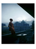 Vogue - July 1945 - Clarepotter Dress on Roof of MOMA Regular Photographic Print by Constantin Joffé