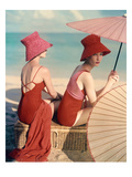 Vogue - January 1959 - Under Parasols Regular Photographic Print by Louise Dahl-Wolfe