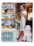 Vogue - March 1999 - At the Patisserie Photographic Print by Arthur Elgort
