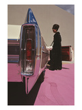 Vogue - November 1964 - Cadillac de Ville Regular Photographic Print by Gene Laurents