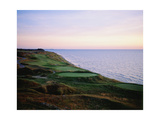 Whistling Straits Golf Club, sunset Regular Photographic Print by Stephen Szurlej