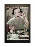 Glamour - November 1950 Regular Photographic Print by Frances Mclaughlin-Gill