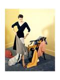 House & Garden - September 1950 Photographic Print by Herbert Matter