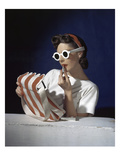 Vogue - July 1939 - White Sunglasses & Red Lipstick Photographic Print by Horst P. Horst