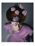 Vogue - August 1944 - Blossoming Hat Regular Photographic Print by John Rawlings