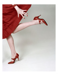 Vogue - February 1958 - Fleming-Joffe Red Heels Regular Photographic Print by Richard Rutledge