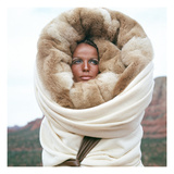Vogue - July 1968 - Veruschka in Arizona Regular Photographic Print by Franco Rubartelli