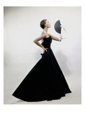 Vogue - November 1949 - Model wearing Christian Dior 1949 Regular Photographic Print by Erwin Blumenfeld