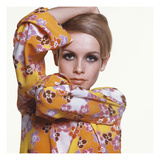 Vogue - March 1967 - Flower Power Twiggy Regular Photographic Print by Bert Stern