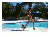 Vogue - April 1999 - Poolside Strut Photographic Print by Arthur Elgort