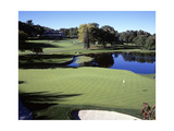 The fourth hole at Baltusrol Golf Club in New Jersey Regular Photographic Print by Stephen Szurlej