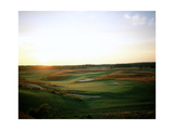 Shinnecock Hills Golf Club, Hole 18, sunrise Regular Photographic Print by Stephen Szurlej