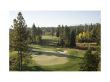 Osprey Meadows Golf Course, Hole 18 Regular Photographic Print by Stephen Szurlej