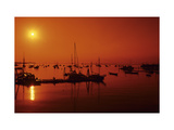 Rockland Harbor, Maine Regular Photographic Print by Stephen Szurlej