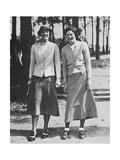 Charlotte Glutting & Aniela Gorczyca American Golfer May 1934 Regular Photographic Print by  Acme