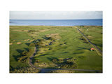 Carnoustie Golf Links, holes along the coastline Regular Photographic Print by Stephen Szurlej