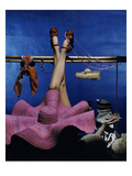 Vogue - January 1944 - Recreational Activities Regular Photographic Print by John Rawlings