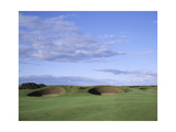 Carnoustie Golf Links, side-by-side bunkers Photographic Print by Stephen Szurlej