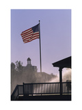 U.S. flag at Pinehurst Regular Photographic Print by Dom Furore