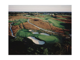 Shinnecock Hills Golf Club, aerial Regular Photographic Print by Stephen Szurlej