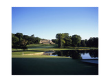 Baltusrol Golf Club, Hole 4, the pond at the clubhouse Photographic Print by Stephen Szurlej