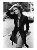Vogue - February 1988 - Cindy Crawford, 1988 Regular Photographic Print by Arthur Elgort