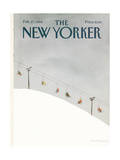The New Yorker Cover - February 27, 1984 Regular Giclee Print autor Abel Quezada