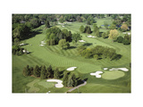 Oakland Hills Country Club, Hole 18 aerial Regular Photographic Print by Dom Furore