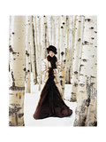 Vogue - October 1999 - Winter Among the Trees Photographic Print by Arthur Elgort