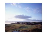 St. Andrews Golf Club Old Course, aerial Regular Photographic Print by Stephen Szurlej