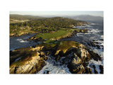 Cypress Point Golf Course, aerial coastline Regular Photographic Print by J.D. Cuban