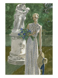 Vogue - June 1932 Gicleetryck av Pierre Mourgue