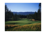 Gold Mountain Golf Club Olympic Course, mountain view Regular Photographic Print by Stephen Szurlej