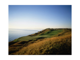 Whistling Straits Golf Club, Hole 13, coastline Regular Photographic Print by Stephen Szurlej