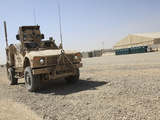An Oshkosh M-ATV Sits Parked at Camp Leatherneck, Afghanistan Photographic Print by  Stocktrek Images