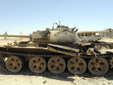 A T-55 Tank Destroyed by Nato Forces in the Desert North of Ajadabiya, Libya Photographic Print by  Stocktrek Images