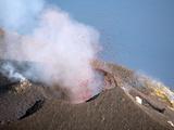 Strombolian Eruption of Stromboli Volcano, Aeolian Islands, Mediterranian Sea, Italy Photographic Print by  Stocktrek Images