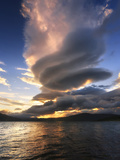 A Massive Stacked Lenticular Cloud over Tjedsundet in Troms County, Norway Photographic Print by  Stocktrek Images