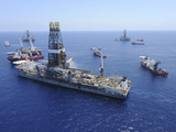Flaring Operations Conducted by the Drillship Discoverer Enterprise Photographic Print by  Stocktrek Images