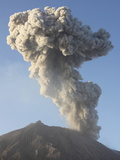 Ash Cloud Following Explosive Vulcanian Eruption, Sakurajima Volcano, Japan Photographic Print by  Stocktrek Images