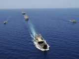 The Republic of the Philippines Navy Ships Cruise in Formation While Taking Part in Exercise Photographic Print by  Stocktrek Images