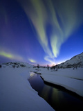 Aurora Borealis over Skittendalen Valley, Troms County, Norway Photographic Print by  Stocktrek Images