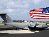 C-17 Globemaster III Sits on the Flightline at Wake Island Photographic Print by  Stocktrek Images