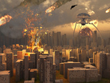 War of the Worlds Photographic Print by  Stocktrek Images
