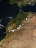 Satellite View of Morocco. Photographic Print by  Stocktrek Images