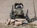 A U.S. Marine Sniper Observes His Sector at a Patrol Base Near Sangin, Afghanistan Photographic Print by  Stocktrek Images