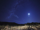 The Moon, Venus, Mars and Spica in a Quadruple Conjunction Photographic Print by  Stocktrek Images
