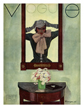 Vogue Cover - September 1931 Gicleetryck av Pierre Mourgue