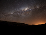 The Milky Way Setting Behind the Hills of Azul, Argentina Photographic Print by  Stocktrek Images