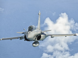 A Dassault Rafale of the French Air Force in Flight over Brazil Photographic Print by  Stocktrek Images